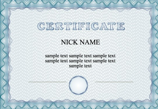 Free Simple Blue Vector Certificate Template - TitanUI