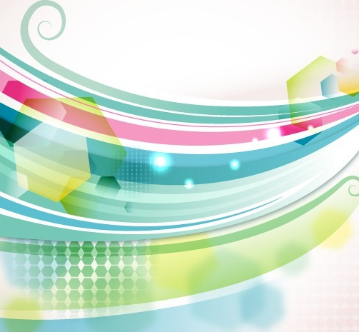 Free Blue and Green Abstract Vector Background 01 - TitanUI