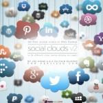Social Clouds Icon Set