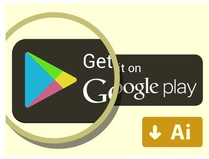 Free Get It On Google Play Button Vector - TitanUI
