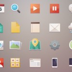 Minimal Flat Web Icon Set PSD