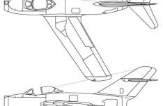 Vector MiG-15 Schema Fighter Aircraft Perspective