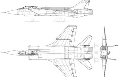 Vector MiG-31 Fighter Aircraft Perspective