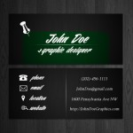 Minimal Dark Business Card Template PSD