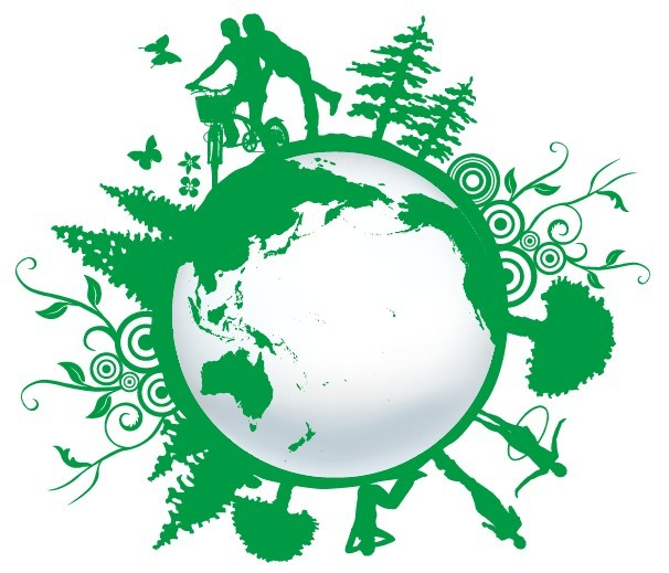 Free Blue Planet Green Earth Concept Illustration Vector