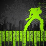 Cool Night Music Party Background Vector 01