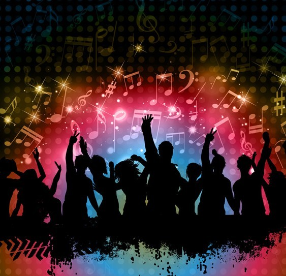 Free Cool Night Music Party Background Vector 02 - TitanUI