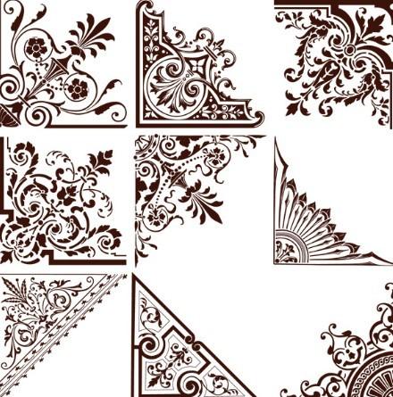 16 floral vector corner patterns png images corner border designs clip art vector corner border corner 16 floral vector corner patterns png