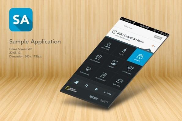 Free App Home Screen PSD Template For iPhone 5 - TitanUI