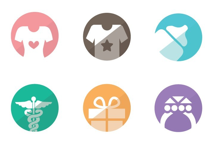 Psd Icon Sets Flat Style Category Icon Set
