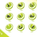ECO Concept Green Icon Set Vector 02