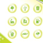 ECO Concept Green Icon Set Vector 04