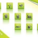 ECO Concept Green Icon Set Vector 05