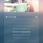 Dark Music Player with Lyrics Display PSD
