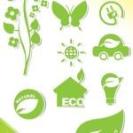 ECO Friendly Green Symbol Set Vector 07