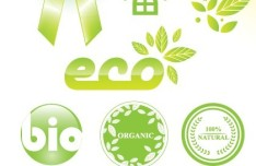 ECO Friendly Green Symbol Set Vector 08