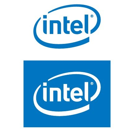 free blue intel logo vector titanui