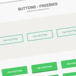Flat Styled Web Button Template PSD