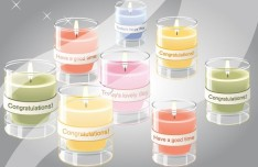 Set Of Vector Wish Candles
