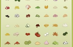 Salad Toppings Pixel Icon Pack