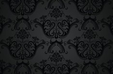 Seamless Charcoal Vintage Floral Background Vector