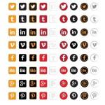 8 Social Icons Vector