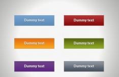 Simple Colored Web Button Templates PSD
