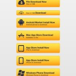 Yellow Call To Action Buttons PSD