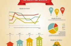 Colored Infographic Charts Design Elements Vector