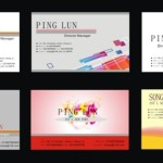 Set Of Vector Simple Technology Business Cards 01