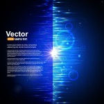 Fashion Blue Radial Lines Background Vector 03
