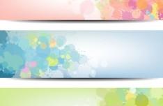Set Of Vector Fresh Splashed Color Banners