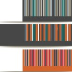 Set Of Vector Simple Banners with Colored Stripes Backgrounds