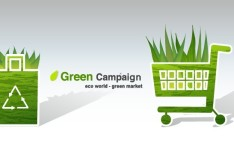 Green ECO World Campaign Green Market Vector