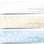 Set Of Vector Snowflake and Sunlight Banners 02