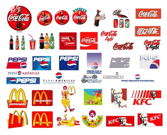 logos drink food brand popular printables vector miniature doll drinks names barbie mini fast titanui labels famous cola coca mcdonald