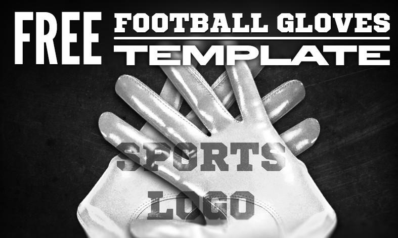 free football gloves psd mockup template