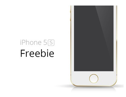 Free Gold iPhone 5S Template Vector - TitanUI