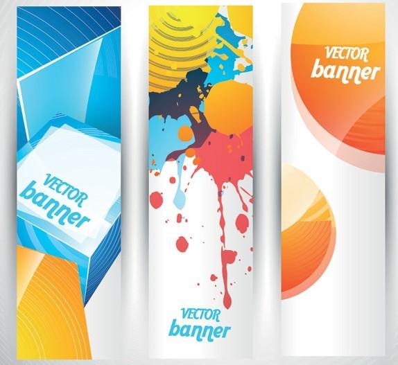free colored bright web banner header designs vector 05 titanui