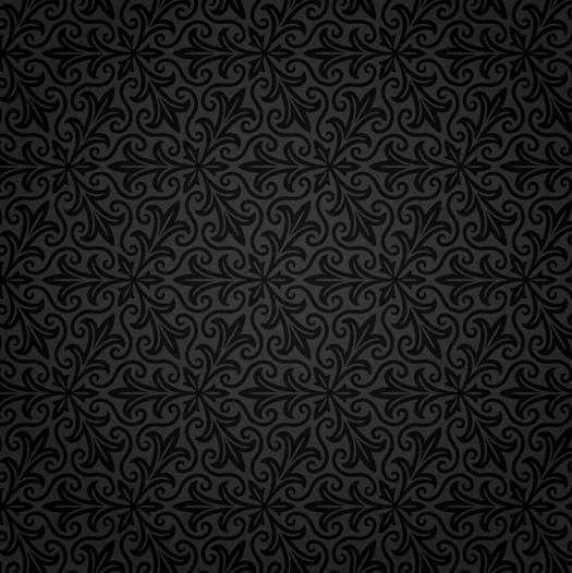 black and white damask wall border