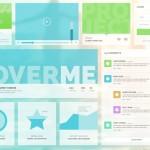 Flat Social Network Fresh UI Kit PSD