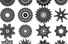 Set Of Vector Black Tribal Patterns