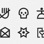 Pictogram Icon Set Vector PSD