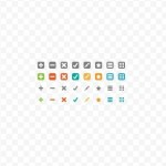 Super Tiny Web Icon Set Vector