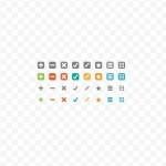 Super Tiny Web Icon Set Vector