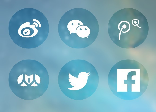 Free 6 Round Transparent Social Icons Vector - TitanUI