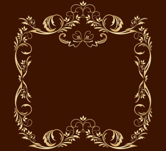 Gold Png Vector Frame Vector 05 Gold Royal