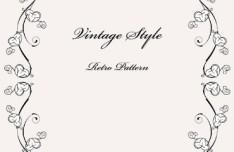 Vintage Styled Simple Dark Floral Frame Vector 02
