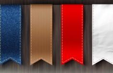 4 Elegant Vertical Ribbons PSD