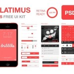 Flatimus iOS UI Kit PSD